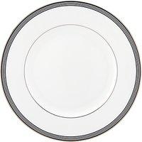 Kate Spade New York Parker Place Platinum Rim Bone China Dinner Plate, Silver/white, Dia.27cm
