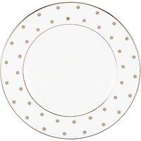 Kate Spade New York Larabee Road Platinum Bone China Salad Plate, Silver/white, Dia.20cm