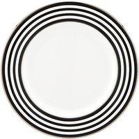 Kate Spade New York Parker Place Platinum Rim Bone China Salad Plate, Silver/white, Dia.20cm