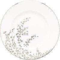 Kate Spade New York Gardener St Platinum Bone China Dinner Plate, Silver/white, Dia.27cm