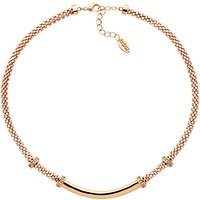 Finesse Mesh Glass Crystal Collar Necklace, Rose Gold