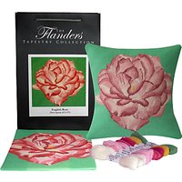 The Flanders Tapestry Collection English Rose Cushion Cover Tapestry Kit