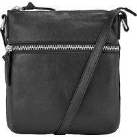 John Lewis Harriet Small Leather Across Body Bag, Black