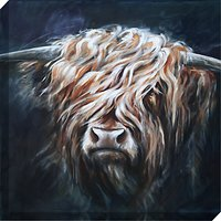 Hilary Barker - Highland Bull Canvas Print, 60 x 60cm