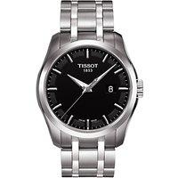 Tissot T0354101105100 Mens Couturier Date Bracelet Strap Watch, Silver/Black