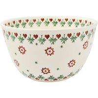 Emma Bridgewater Joy Robin Pudding Basin Bowl, Multi, Dia.19.5cm