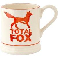 Emma Bridgewater Total Fox Half Pint Mug, Orange/white, 310ml
