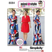 Simplicity Womens Plus Size Dresses Sewing Pattern, 8084
