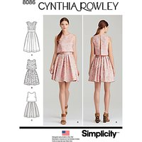 Simplicity Womens Dresses Sewing Pattern, 8086