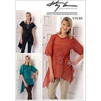 Vogue Misses Handkerchief Hem Top Sewing Pattern, 9188