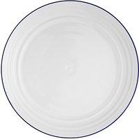 John Lewis Coastal Dinner Plate, Set Of 6, White/blue, Dia.27.5cm