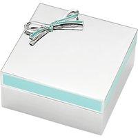 kate spade new york Vienna Keepsake Box, Silver/ Turquoise