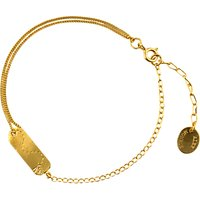 Alex Monroe 22ct Gold Plated Sterling Silver Time Flies Tag Bracelet, Gold