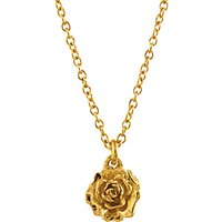 Alex Monroe 22ct Gold Plated Sterling Silver Rosa Damascena Pendant Necklace, Gold