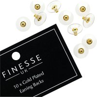 Finesse Gold Plated Earring Backs, Gold