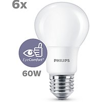 Philips 8W ES LED Classic Non-Dimmable Bulb, Pack of 6
