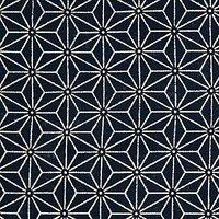 Sevenberry Linear Star Print Fabric, Blue