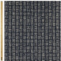 John Lewis Cross Hatch Print Fabric, Blue