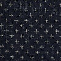 John Lewis Cross Print Fabric, Blue