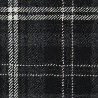 Calzeat Large Tartan Print Fabric, Grey/Cream