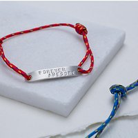 Chambers & Beau Personalised Mens ID Bar Rope Bracelet