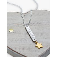 Chambers & Beau Personalised Skinny Bar and Star Necklace