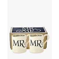 Emma Bridgewater Black Toast Mr & Mr Mugs, Set Of 2, Black/white, 300ml