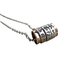 Twisted Typist Silver and Copper Spinning Ring Necklace