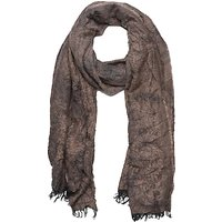 French Connection Distressed Scarf, Indian Tan Mix
