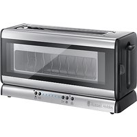 Russell Hobbs Purity Glass Line Toaster, Stainless Steel