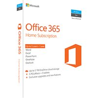 Microsoft Office 365 Home Premium, 5 PCs/Macs + Tablet, One-Year Subscription