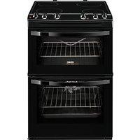 Zanussi ZCV68010BA Electric Cooker, Black