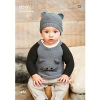 Rico Baby Classic DK Baby Jumper and Hat Knitting Pattern, 464