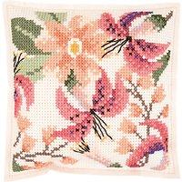 Rico Flower Felt Cross Stitch Cushion Kit