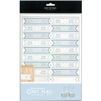 East of India Cupcake Tiny Happy Birthday Flag Kit, Pack of 22