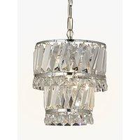 John Lewis Celeste Easy-to-Fit Pendant Ceiling Light, Crystal/Clear