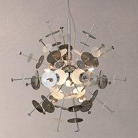 John Lewis Andromeda Pendant Ceiling Light, 4 Light, Silver/Metallic