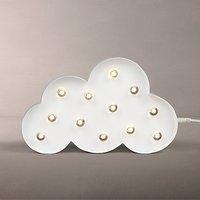John Lewis LED Cloud Sign Light, White