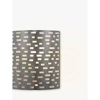 John Lewis Tucco Fretwork Wall Light, Satin Nickel
