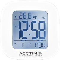 Acctim Sandby Radio Controlled Alarm Clock, White