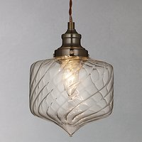 John Lewis Romilly Twisted Glass Pendant Ceiling Light