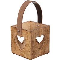 John Lewis Mango Wood Heart Lantern