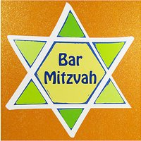 Bar Mitzvah Star Greeting Card
