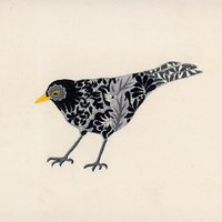 Nicola Jarvis Blackbird Crewel Work Embroidery Kit