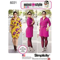 Simplicity Mimi G Dresses Sewing Pattern, 8221