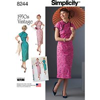Simplicity Vintage Misses Womens Dresses Sewing Pattern, 8244