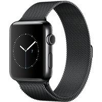 Apple Watch Series 2 42mm Space Black Stainless Steel Case with Milanese Loop, Space Black