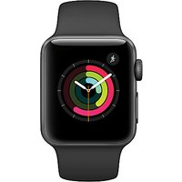 Apple Watch Series 2 38mm Space Grey Aluminium Case with Sport Band, Black