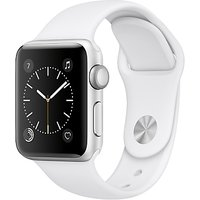 Apple Watch Series 2 38mm Silver Aluminium Case with Sport Band, White