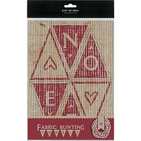 East of India Noel Fabric Bunting Kit, Brown/Red